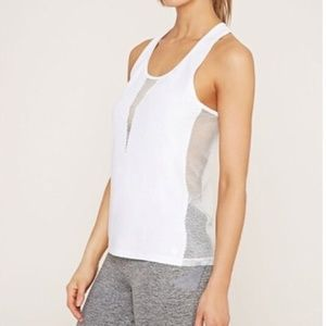 3 for $30: Forever21 Green Mesh Panel Workout Tank